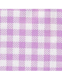 Toile Graziano Vichy pour broderie suisse - violet