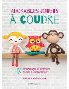 Livre - Adorables jouets à coudre