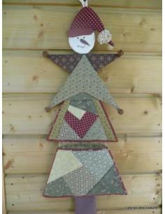 L'Atelier des coeurs - fiche - Vide-poches Sapin, étoile, bonhomme de neige