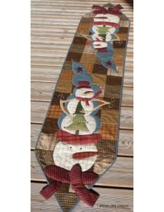 L'Atelier des coeurs - fiche - Chemin de table bonhomme de neige