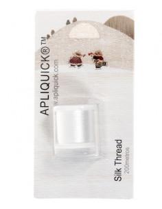 APLIQUICK ®™ - Fil de soie - blanc - 200 mètres
