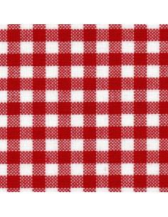 Toile Zweigart Murano Carré coloris 9219 - Rouge et blanc