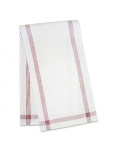 Graziano - Chemin de table BONN rouge et blanc