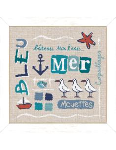 Lili Points - Bleu + poisson nacre