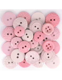 Lot de boutons Dress It Up - Color Me - Pink