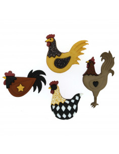 Lot de boutons Dress It Up - Hen House