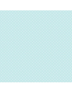 Coupon Fat Quarter - mini pois - turquoise