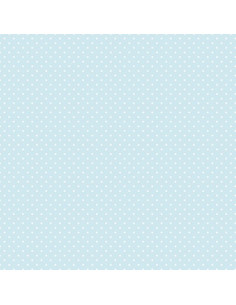 Coupon Fat Quarter - mini pois - bleu