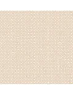 Coupon Fat Quarter - mini pois - taupe