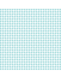 Coupon Fat Quarter - vichy - turquoise