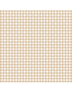 Coupon Fat Quarter - vichy - taupe