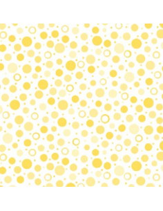 Coupon Fat Quarter - pois - jaune