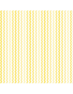 Coupon Fat Quarter - serpentin - jaune