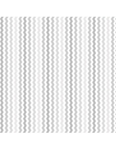 Coupon Fat Quarter - serpentin - gris clair