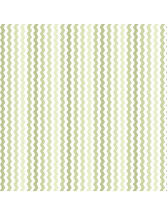 Coupon Fat Quarter - serpentin - vert fougère