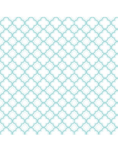 Coupon Fat Quarter - geo - turquoise