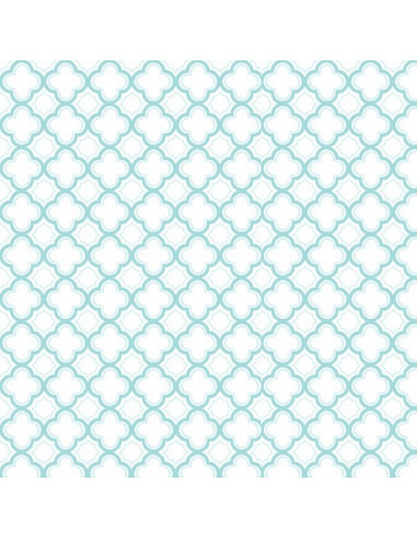Fat quarter geo turquoise broderie passion for Boutis turquoise