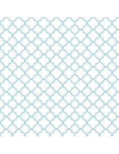 Coupon Fat Quarter - geo - bleu