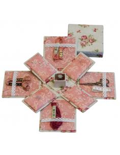 Kit de cartonnage - Boîte à couture Victorienne