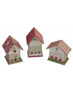 Kit de cartonnage - 3 Mini maisonnettes