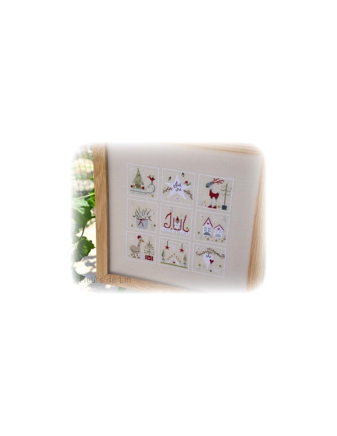 fleurs de lin no l scandinave cross stitch chart. Black Bedroom Furniture Sets. Home Design Ideas