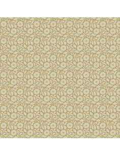 Coupon Fat Quarter - Tonal Daisy - beige