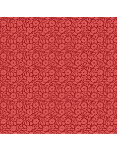 Coupon Fat Quarter - Tonal Daisy - rouge