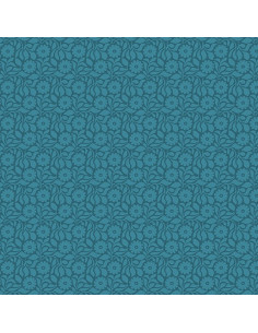Coupon Fat Quarter - Tonal Daisy - bleu