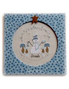 Fleurs de Lin - chart - Snwoly le petit bonhomme de neige