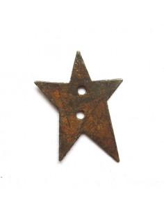 Rusty tin star button - 26 mm
