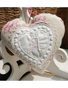 Les Boutis de Lucie - Kit de boutis - Coeur monogramme Louise