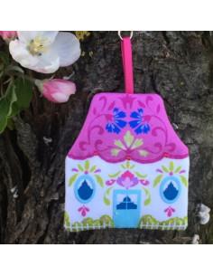Odile Bailloeul - kit à coudre - Porte-clés Maison