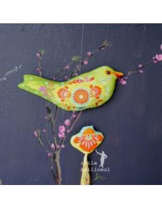 Odile Bailloeul - kit à coudre - L'oiseau Mexicain