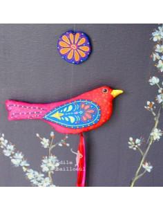 Odile Bailloeul - kit à coudre - L'oiseau perlé