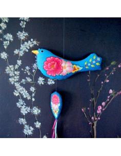 Odile Bailloeul - kit à coudre - L'oiseau fleuri