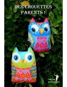 Odile Bailloeul - kit à coudre - Des chouettes parents