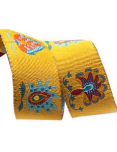 Ruban fleurs design multicolore - 22 mm