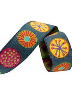 Ruban cercles multicolore - 16 mm
