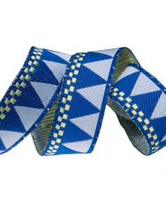 Ruban triangle bleu - 16 mm