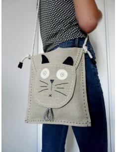 L'Atelier d'Éole - Pochette chat - kit de couture