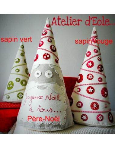 L'Atelier d'Éole - Le père Noël / Le Sapin - kit de couture