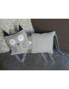 L'Atelier d'Éole - Le chat en lin - kit de couture