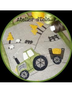 L'Atelier d'Éole - Le tracteur - kit de couture