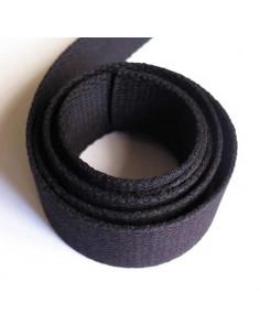 Sangle pour sac en coton 30 mm - noir