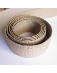 Sangle pour sac en coton 30 mm - beige