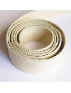 Sangle pour sac en coton 30 mm - crème