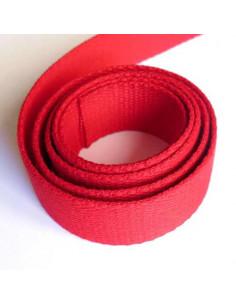 Sangle pour sac en coton 30 mm - rouge vif