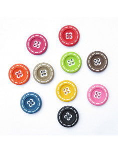 Bouton rond en plastique - 27 mm