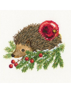RTO - Kit point de croix - Hedgehog decorating Christmas tree