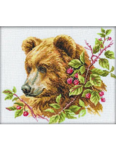 RTO - Kit point de croix - Bear And Raspberry